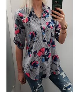 Marškinukų tipo raštuota palaidinė + didesni dydžiai