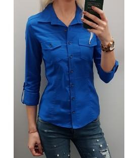 Mėlyni trumpi marškiniai