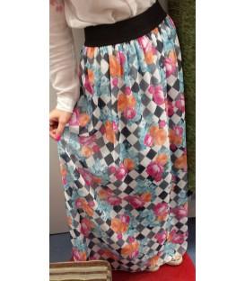 Raštuotas ilgas sijonas