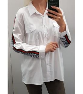 Marškiniai su juostele ant rankovių