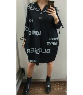 Didesnio dydžio marškinukų stiliaus suknelė