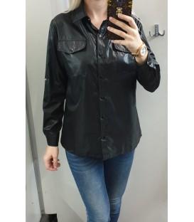 Šlapio efekto juodi marškiniai