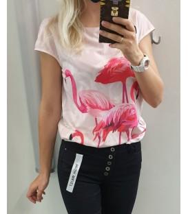 Plona palaidinė su flamingais
