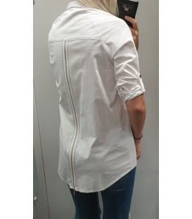 Asimetriniai marškiniai su užtrauktuku nugaroje