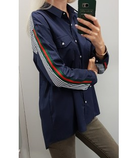Marškiniai su kaspinukais ant rankogalių