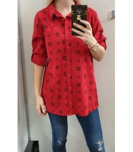 Didesnio dydžio languoti marškiniai