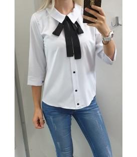 Balti marškiniai su kaspinu