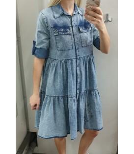 Laisva džinsinė suknelė