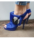 Puošnios mėlynos aukštakulnės basutės