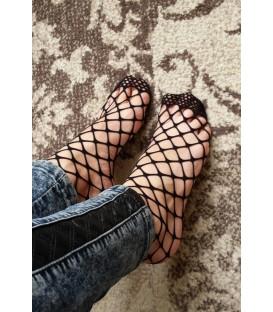 Juodos tinklinės trumpos kojinės